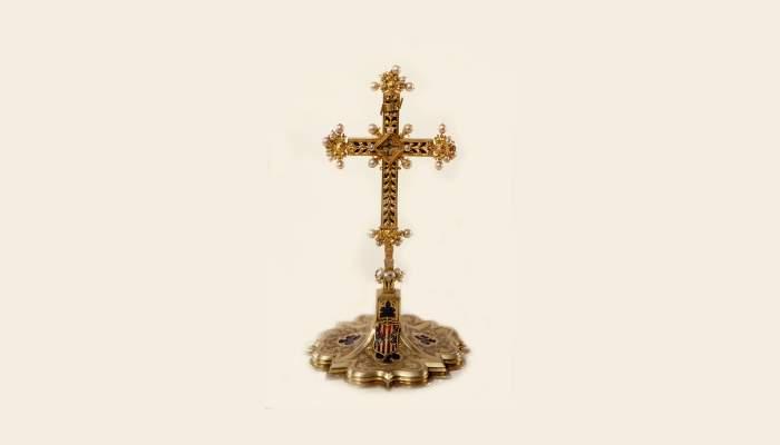 <p>Cruz relicario del arzobispo Pere de Cardona</p>