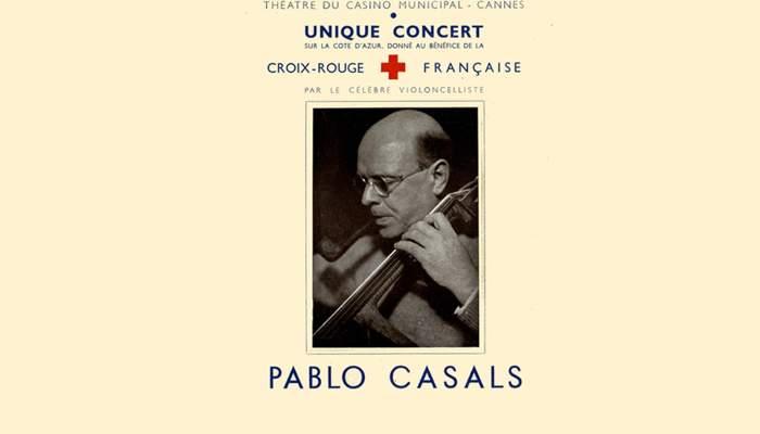 <p>Programme d'un concert de charit&eacute; de Pau Casals pour la Croix-Rouge fran&ccedil;aise, 1944.</p>
