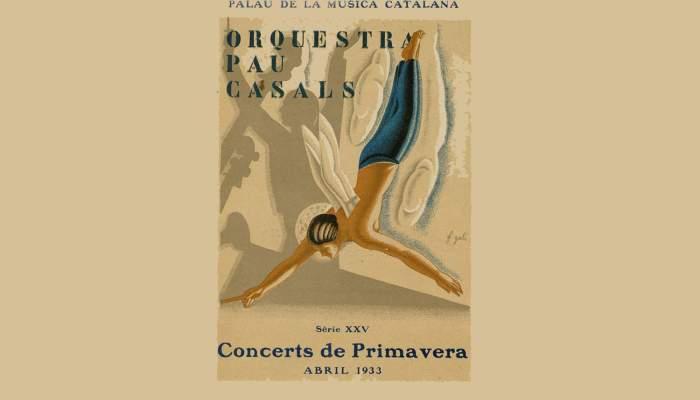 <p>Pau Casals Orchestra programme. Spring Concerts 1933</p>
