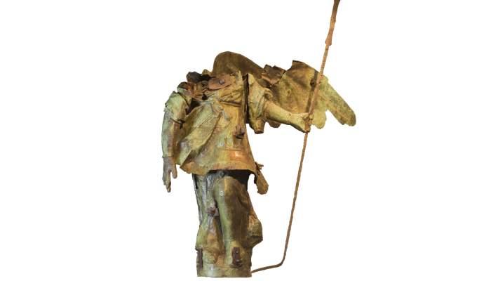 <p>Escultura de bronce, el &Aacute;ngel de la Catedral, de Ramon Salvatella (s. XVIII). Fotograf&iacute;a: Mart&iacute; Artalejo.</p>