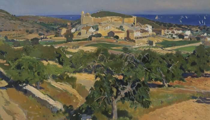 <p><em>Calafell</em> by Joaquim Mir (1873-1940). Oil on canvas. Size: 96x111 cm</p>