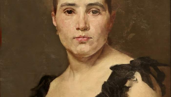 <p><em>Retrat de la senyoreta Dulce</em>, Antoni Caba i Casamitjana, segle XIX, oli sobre tela, 46 &times; 36 cm. Foto: Pere Cornellas, 2014</p>