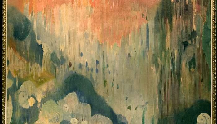 <p><em>Grottes de Majorque - D&eacute;coration de la maison Trinxet</em>, Joaquim Mir i Trinxet, 1903, huile sur toile, 190 &times; 220 cm</p>