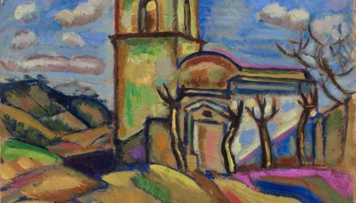 <p><em>Ermita de Sant Joan d&rsquo;Horta</em>, Joan Mir&oacute;, 1917, &oacute;leo sobre cart&oacute;n, 52 &times; 57 cm, Fundaci&oacute;n Joan Mir&oacute;, Barcelona. Donaci&oacute;n de Joan Prats</p>
