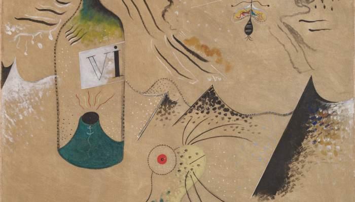 <p><em>Pintura (L&rsquo;ampolla de vi)</em>, Joan Mir&oacute;, 1924, oil on canvas, 73.5 &times; 65.5 cm, Joan Mir&oacute;, Barcelona. Contribution from a private collection</p>