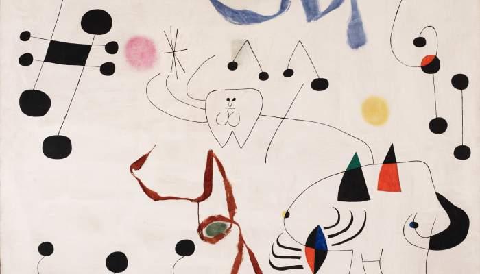 <p><em>Dona somiant l&rsquo;evasi&oacute;</em>, Joan Mir&oacute;, 1945, oil on canvas, 130 &times; 162 cm, Joan Mir&oacute; Foundation, Barcelona</p>