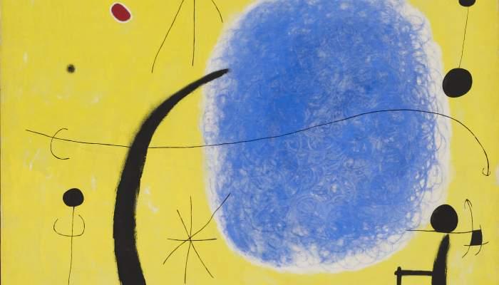 <p><em>El oro del azur</em>, Joan Mir&oacute;, 1967, acr&iacute;lico sobre tela, 205 &times; 173 cm, Fundaci&oacute;n Joan Mir&oacute;, Barcelona</p>