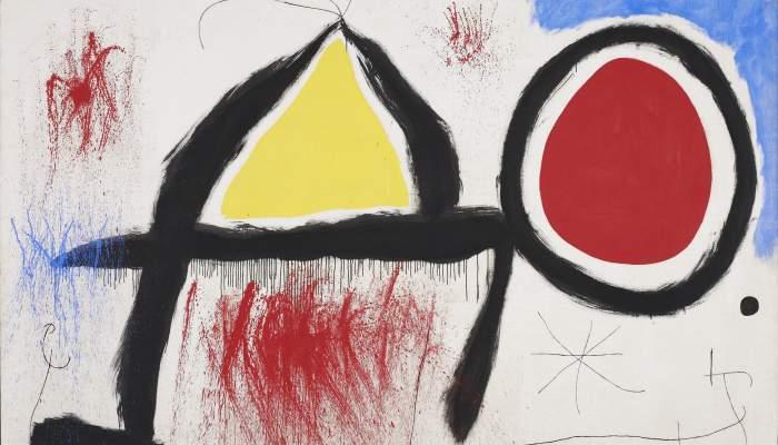 <p><em>Personaje delante del sol</em>, Joan Mir&oacute;, 1968, acr&iacute;lico sobre tela, 174 &times; 260 cm, Fundaci&oacute;n Joan Mir&oacute;, Barcelona</p>