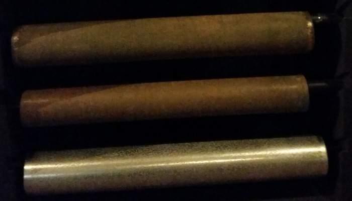 <p>Cylindre ou rouleau de cuivre pour l'impression en machine</p>