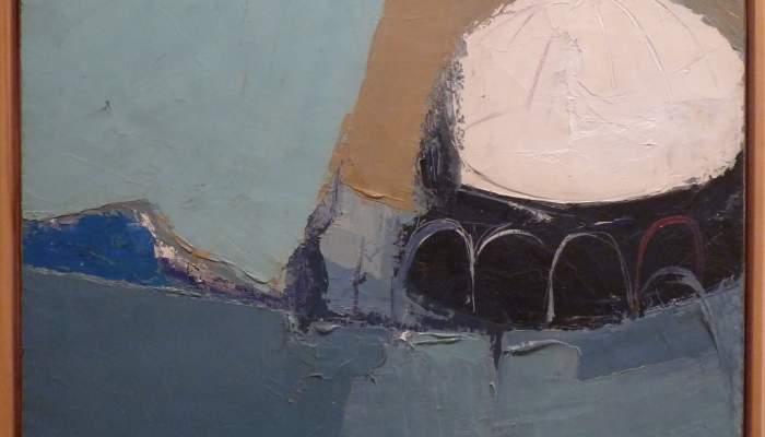 <p><em>Le d&ocirc;me blanc</em>, 1963, huile sur toile, 62 x 76 cm</p>