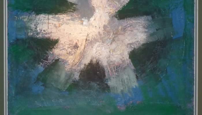<p><em>Lluminositat astral</em>, s&egrave;rie &laquo;Big Bang&raquo;, 2002, oli sobre tela, 100 &times; 100 cm</p>