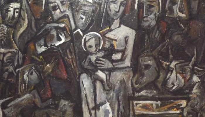 <p><em>Pessebre</em>, 1951, oli sobre tela, 114 &times; 146 cm</p>