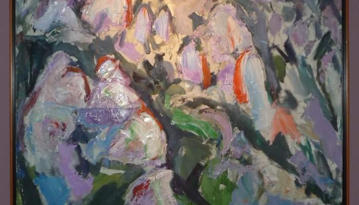 <p><em>Toutes les couleurs</em>, s&eacute;rie &laquo; Montserrat &raquo;, 1998, huile sur toile, 130 x&nbsp;89 cm</p>