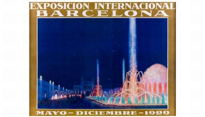 <p>Cartel de la Exposici&oacute;n Internacional de Barcelona de 1929, ilustraci&oacute;n de G. Amat, cromolitograf&iacute;a. Imprenta Rieusset, SA. &copy; Xavi Oliv&eacute;</p>