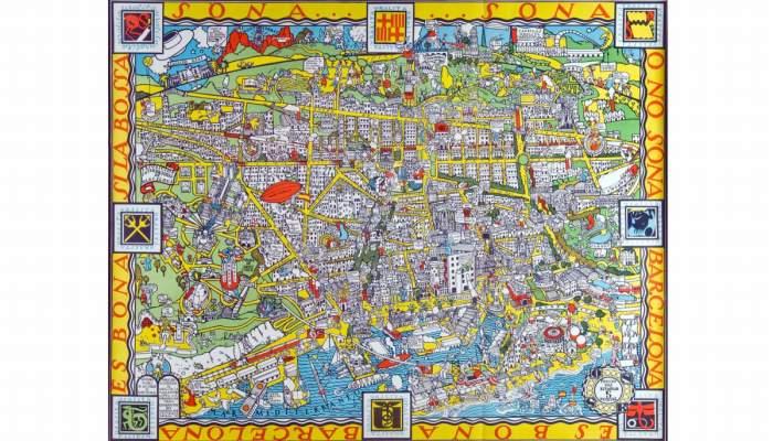 <p>Cartel conmemorativo de la Exposici&oacute;n Internacional de Barcelona de 1929 de la empresa Uralita, Frisco Millioud, cromolitograf&iacute;a, 77 &times; 96 cm. &copy; Xavi Oliv&eacute;</p>