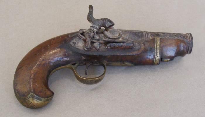 <p>Pistola de viatge, segona meitat del segle XIX</p>