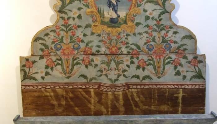 <p>Lit polychrome d&rsquo;Olot, 1740-1750</p>
