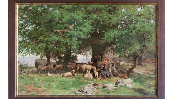 <p><em>Verdaguer pastoret</em>, Jaume Pahissa, s. d., oli sobre tela, 50&times;70 cm.</p>
