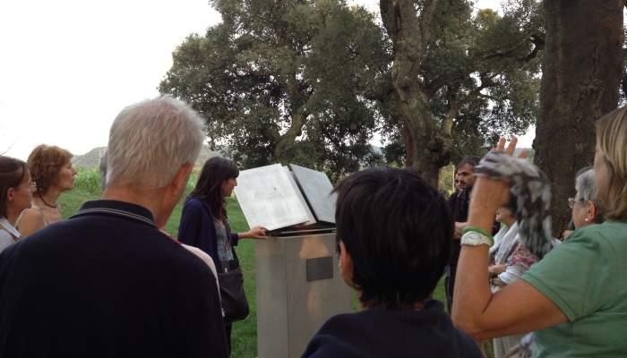 <p><em>&Agrave;lbula</em>, monument &agrave; la po&eacute;sie, Pablo Palazuelo, 1995.</p>
