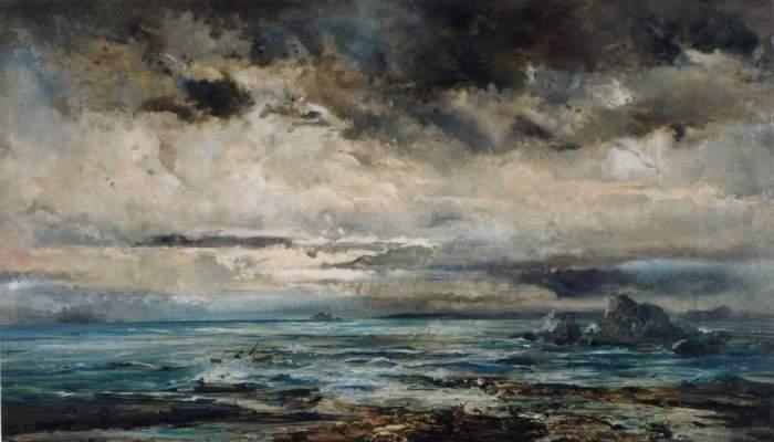 <p><em>Mer houleuse</em>, Ramon Mart&iacute; i Alsina, entre 1875 et 1884. Huile sur toile, 137&times;239&nbsp;cm.</p>