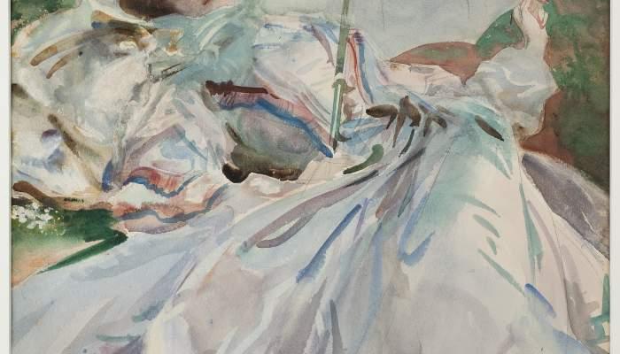 <p><em>La dama de l&rsquo;ombrel&middot;la</em>, John Singer Sargent, 1911. Aquarel&middot;la, 65 &times; 54 cm. Donaci&oacute; J. Sala Ardiz.</p>