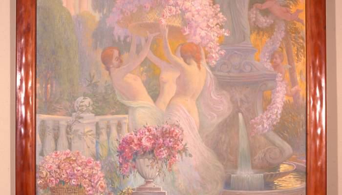 <p><em>Pintura decorativa</em>, Pere Viver i Aymerich, 1913, oli sobre tela, 197,5 × 132 cm. MdT 13056 Foto: Teresa Llordés</p>
