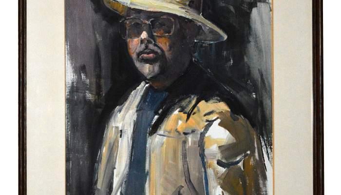 <p><em>Autoretrat</em>, Josep Mart&iacute;nez Lozano, 1977, oil on canvas, 93.2 &times; 72.3 cm (with frame). MdT 1398 Photo: Terrassa Museum</p>