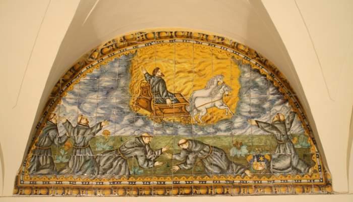 <p>Glorificaci&oacute;n de san Francisco y visi&oacute;n del carruaje celestial, panel 24, galer&iacute;a norte. Foto: Museo de Terrassa</p>