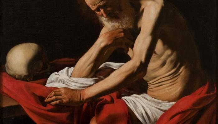 <p><em>Sant Jeroni</em> penitent, Michelangelo Merisi da Caravaggio, 1605. Oli sobre tela, 145,5 &times; 101,5 cm.</p>