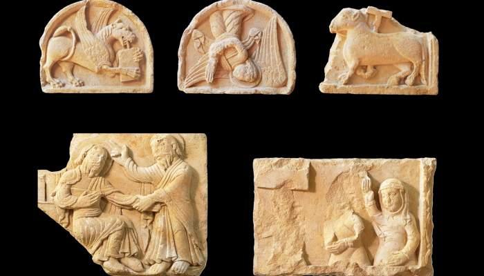 <p>Relleus de la catedral rom&agrave;nica de Vic, segle XII, taller de Vic-Ripoll</p>