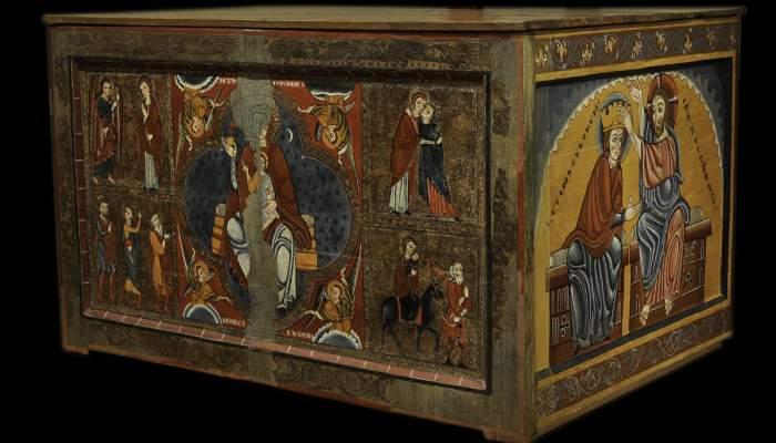 <p>Autel de Sainte Marie de Llu&ccedil;&agrave;, Ma&icirc;tre de Llu&ccedil;&agrave;, xiii<sup>e</sup> si&egrave;cle, ateliers de Vic</p>