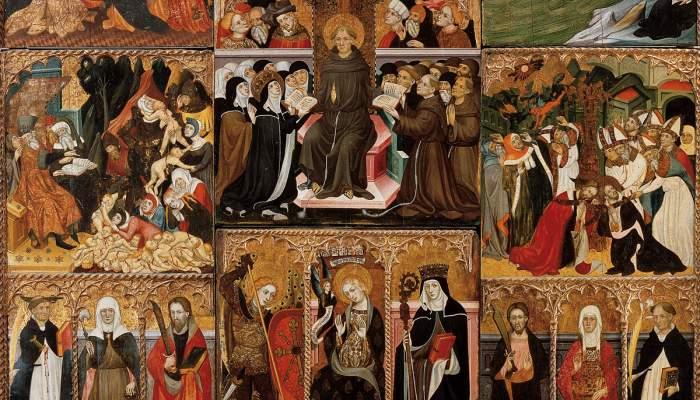 <p>Retablo de Santa Clara, Llu&iacute;s Borrass&agrave;, 1414-1445</p>