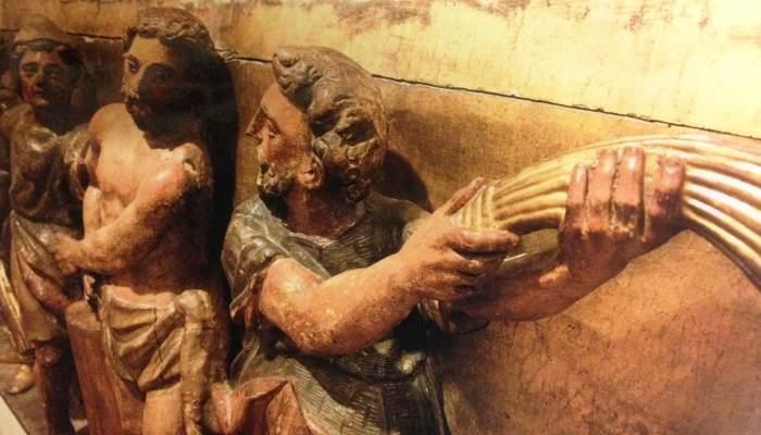 <p><em>Flagelaci&oacute;n de Cristo</em>, Pere Fern&aacute;ndez, 1620, retablo mayor de la iglesia de El Carme de Manresa</p>