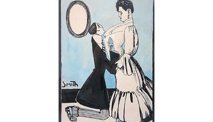 <p><em>Supplique</em>, Ismael Smith i Mar&iacute;, s. d., encre et aquarelle sur papier, 23,5 &times; 17 cm</p>