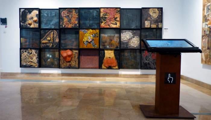 <p>M&oacute;dulo interactivo dedicado a la obra <em>Homenaje a Sarajevo</em>, del artista Jaume Sol&eacute;</p>