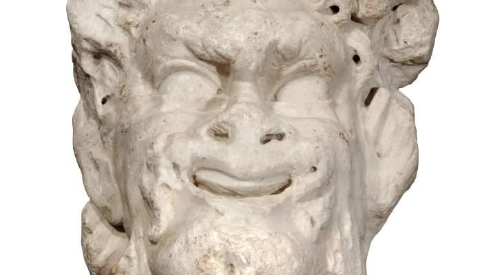 <p>Cabeza de Sileno ejecutada en m&aacute;rmol blanco, posiblemente de Luni-Carrara. Probablemente procede de Tarragona</p>