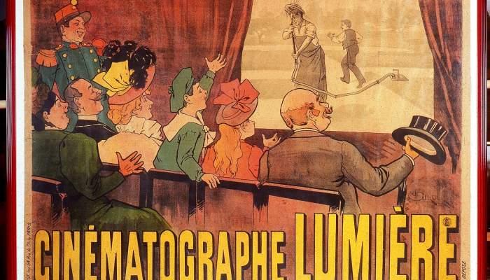 <p>Cartell <em>Cin&eacute;matographe Lumi&egrave;re</em>, Marcellin Auzolle, E. Pichot (editor), Fran&ccedil;a, 1896</p>