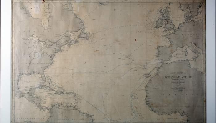 """<p><strong><span style=""""font-weight: 400;"""">Carta n&agrave;utica, 1864, impressi&oacute; sobre paper, amb anotacions en tinta. Direcci&oacute;n de Hidrograf&iacute;a (Instituto Hidrogr&aacute;fico de la Marina)</span> </strong></p>"""