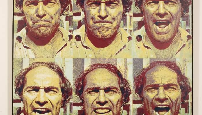 <p><em>MeRdA</em>, 1984, bois et peinture vinylique sur bois, 150 &times; 150&nbsp;cm</p>