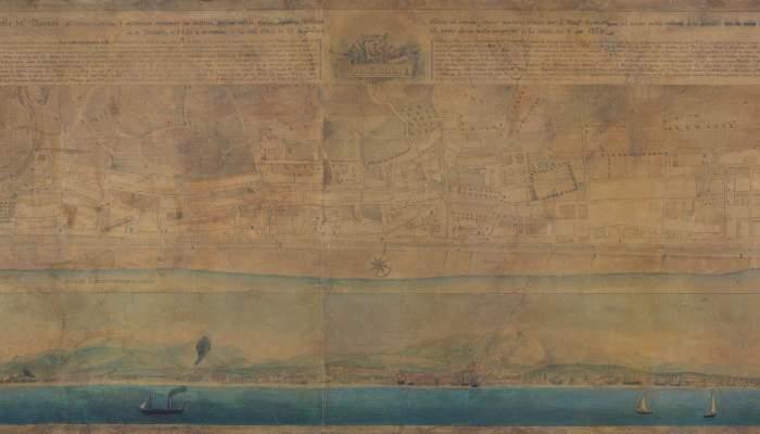 <p>Plan g&eacute;om&eacute;trique du Masnou, Miquel Garriga i Roca (Alella, 1804 - Barcelone, 1888), 1846, encre sur papier</p>