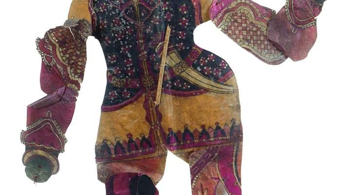 <p>Figura per a teatre d'ombres indi (ca. s.XIX)</p>