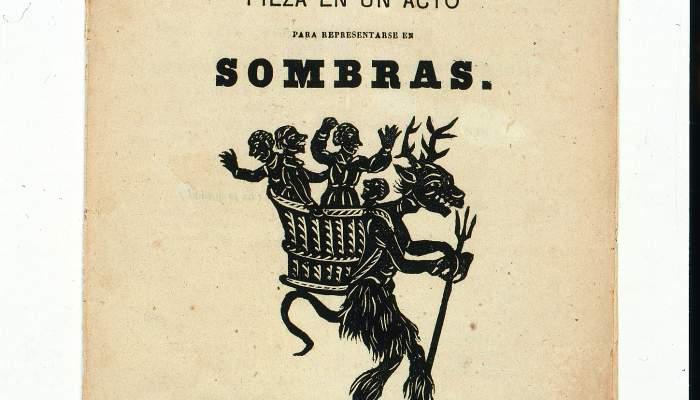 """<p>Llibret per a teatre d'ombres ocidental """"<em>El diablo de la cesta</em>"""" (Barcelona, 1864)</p>"""