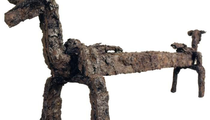 <p>Iberian andiron found at the Puig Castellar site</p>