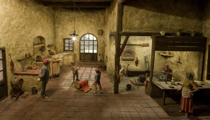 <p>Diorama dedicado al <em>ti&oacute;</em> navide&ntilde;o construido por Sergi Mass&oacute;, de la Agrupaci&oacute; Pessebrista de Barcelona.</p>