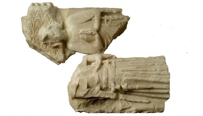 <p>Im&aacute;genes yacentes de dos de los hijos de los condes Alfonso y Teresa de Entenza, siglo XIV.</p>