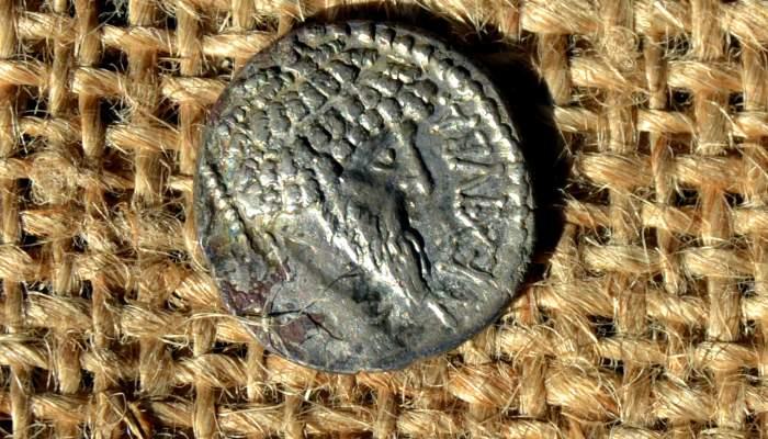 <p>Detalle del denario hallado en Ca n'Oliver</p>