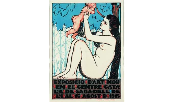 <p>Cartell de l&rsquo;exposici&oacute; &laquo;Art Nou catal&agrave;&raquo;, Feliu Elias, 1910, serigrafia, 83 &times; 61 cm</p>