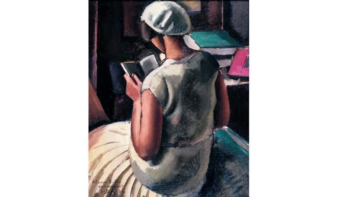 <p><em>Noia d&rsquo;esquena llegint</em>, Antoni Vila Arrufat, 1930, oli sobre tela, 60 &times; 50 cm</p>