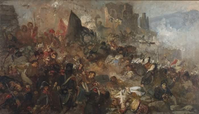 <p><em>El setge de Girona de 1809</em> (esb&oacute;s), Ramon Mart&iacute; Alsina, cap al<em>&nbsp;</em>1859. Oli sobre tela, 47 x 84,5 cm. Museu d&#39;Art de Girona - Fons d&#39;Art Diputaci&oacute; de Girona.</p>