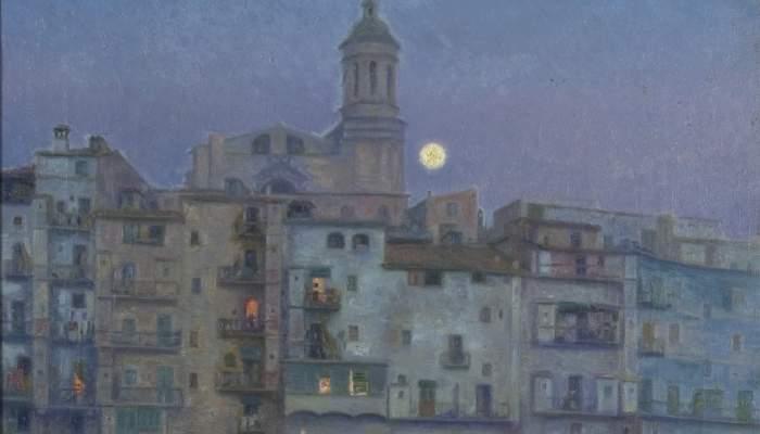 <p><em>Nit de lluna a Girona</em>, Prudenci Bertrana i Compte, 1913.&nbsp;Oli sobre tela, 71 x 56 cm. Museu d&#39;Art de Girona - Fons d&#39;Art Diputaci&oacute; de Girona.</p>